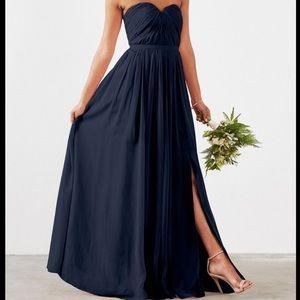 Weddington Way Navy Dark Maxi Blue Dress 0 XS
